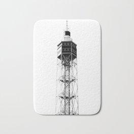 Metallic tower in Milan Bath Mat