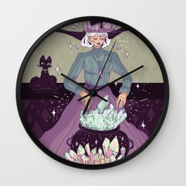 Crystal Witch Wall Clock