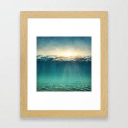 Breeze of the blue ocean Framed Art Print