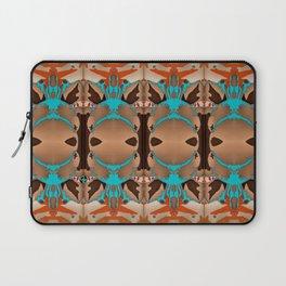Brown Blue Azalea 1 Laptop Sleeve