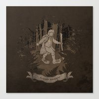 bigfoot Canvas Prints featuring Bigfoot Baggins by jerbing