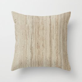Beige Travertine Stone Texture Throw Pillow