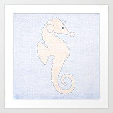Seahorse - Under the Sea Series Nursey Print Art Print