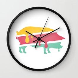 POP PIG Wall Clock