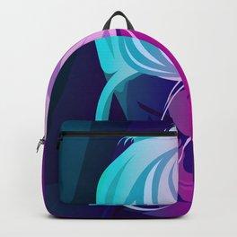 Woman in art. Backpack