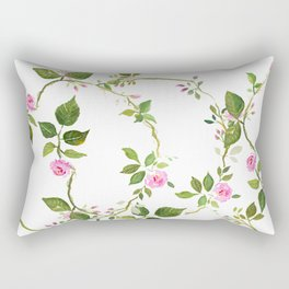 Trailing rose pillow  Rectangular Pillow