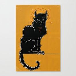 The Magic Black Sorcerer Cat of Dark Arts Leinwanddruck