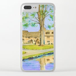 Countryside Cottages Clear iPhone Case