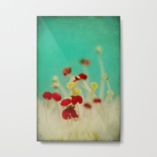 Bloom in Red Metal Print