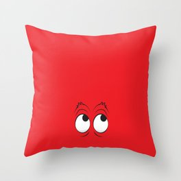 Monster Eyes Red Throw Pillow
