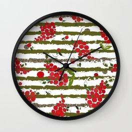 Guelder Rose Wall Clock