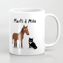 "Custom Art ""Marti & Milo"" Coffee Mug"