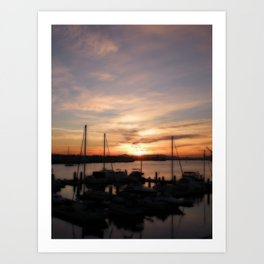 Sunset Over Jack London Square Art Print