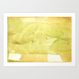 Yellow green watercolor Art Print