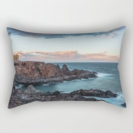 Arico Lighthouse with Long Exposure. Rectangular Pillow