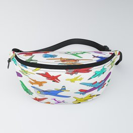 Colorful Airplanes Fanny Pack