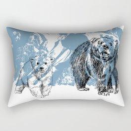 Bears family print Rectangular Pillow