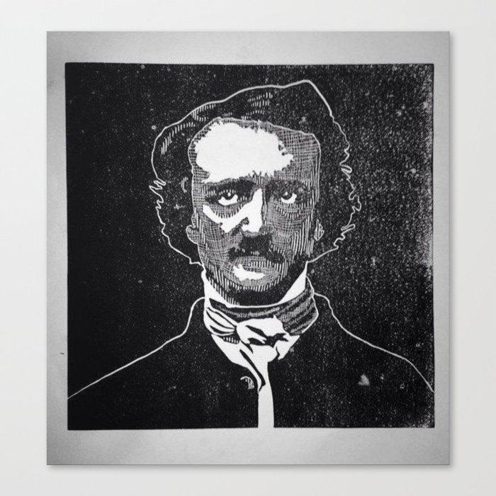 Writer of The Raven: Edgar Allan Poe Canvas Print