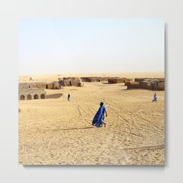 Blue Men of Mali Metal Print