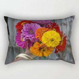 Colour in a dark world. Rectangular Pillow