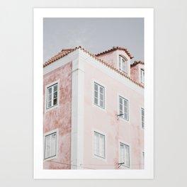 Pink Architectural Art Print