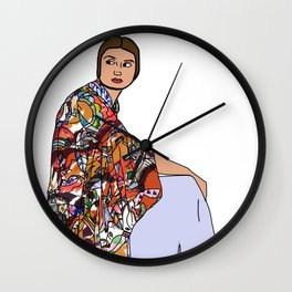 No Ban No Wall | Art Series - The Jewish Diaspora 002 Wall Clock