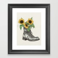 Shoe Bouquet I Framed Art Print