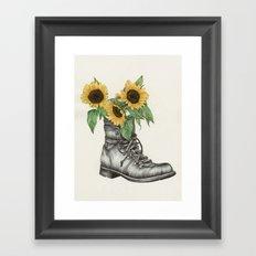 Shoe Bouquet I Framed Art Print