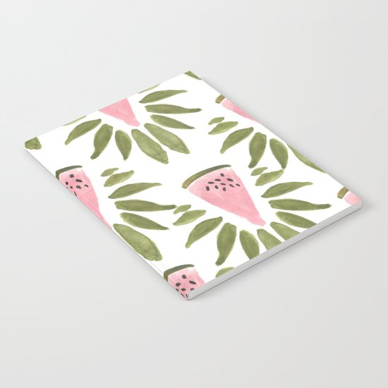 Watermelon and Leaves Notebook
