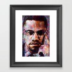 MALCOLM X Framed Art Print