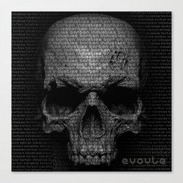 Evolution Series Skull Matrix Canvas Print