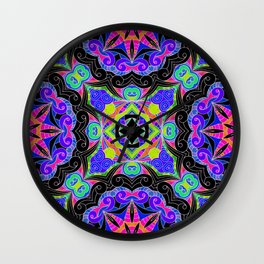 Drawing Floral Doodle G108 Wall Clock