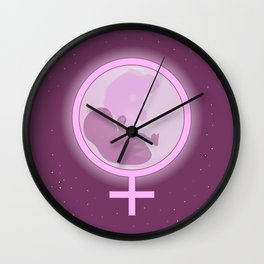 Expecting A Girl Wall Clock