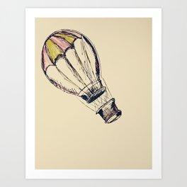 up, up, and away. Art Print