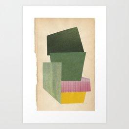 green green green pink yellow Art Print