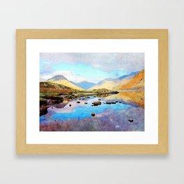 """Enough Blue Sky"" Derwentwater Reflections, Lake District, UK Framed Art Print"
