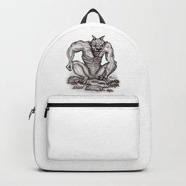 Mix - creature - Troll Devil and Golem Gargoyle Backpack