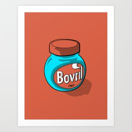 Bovril dreams in tangerine Art Print