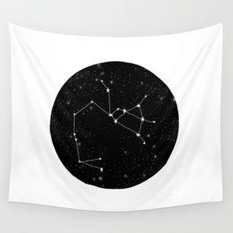 Sagittarius constellation zodiac star sign black and white minimal art Wall Tapestry