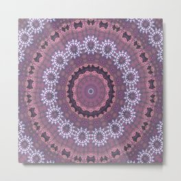 Mandalic Thread Display Mandala Revamped Metal Print