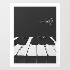 | Gloomy Sunday - Old piano sound | Art Print
