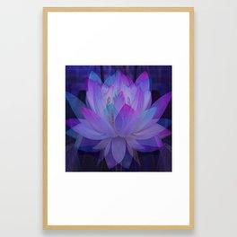 The Lotus in blue... Framed Art Print
