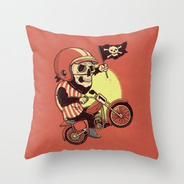 Skull Rider Throw Pillow