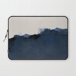 Abstract, blue, beige, indigo Laptop Sleeve