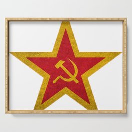 USSR Cold War Soviet Union Flag Communist Star Communism Russia Serving Tray
