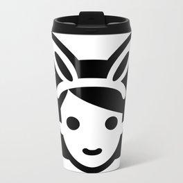 bunny ear girl emoji Metal Travel Mug