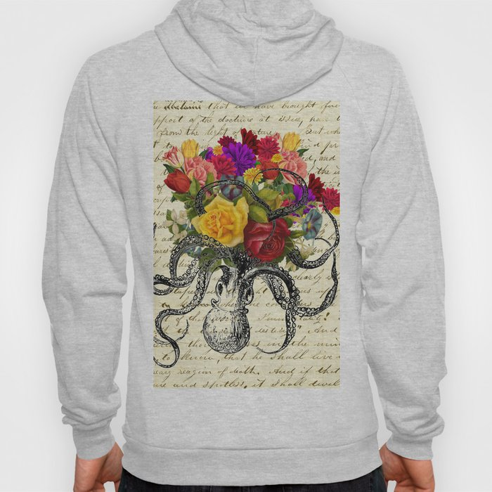 Octopus Attacking Flowers Hoody