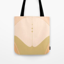 Olive Green and Cream Abstract Tote Bag