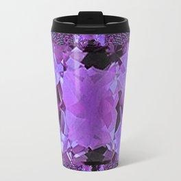 Amethyst Purple Square Gems February Birthstones Travel Mug
