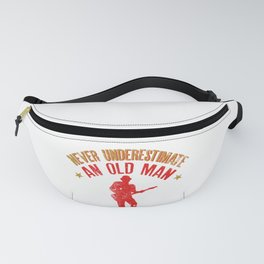 Never Underestimate An Old Man With A Guitar print Fanny Pack